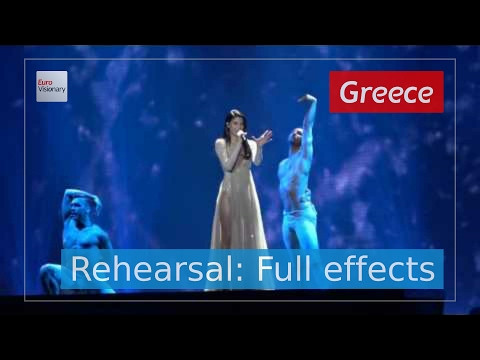 Demy - This is Love - Greece - Rehearsal (Full Effects) - Eurovision Song Contest 2017 (4K)