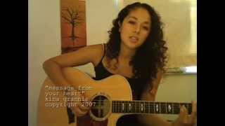 Watch Kina Grannis Message From Your Heart video