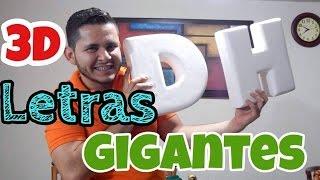 Cómo hacer letras en 3D Gigantes / DIY / Arte con Diego