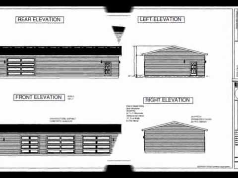 G464 30 39 X 60 39 X10 39 Workshop Garage Plan Youtube