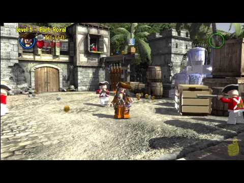 Lego Pirates of the Caribbean: Level 1 Port Royal - Story Walkthrough- HTG