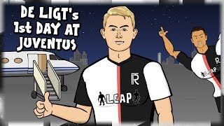 ⚫⚪DE LIGT's 1st DAY AT JUVENTUS!⚪⚫ (Transfer parody feat. Ronaldo)