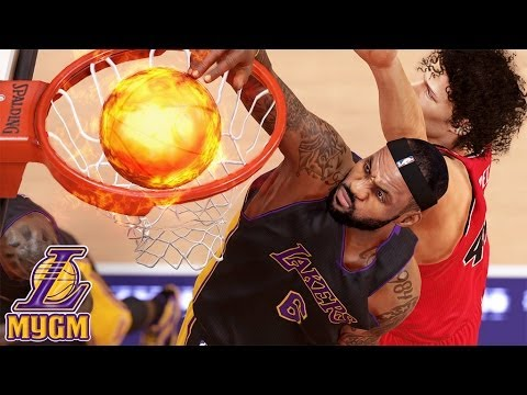 NBA 2K14 Next Gen MyGM #29 - LeBron James Is Unstoppable! | First Game As Los Angeles Laker!