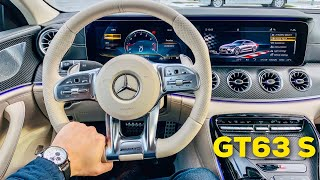 2019 MERCEDES AMG GT 4-Door 63 S FULL INTERIOR REVIEW Macchiato Beige Exclusive Nappa Leather
