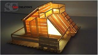 MODEL MAKING OF POPSICLE STICKS HOUSE