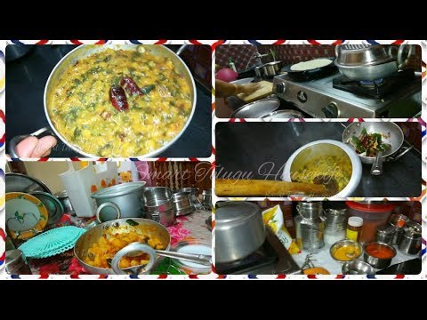 #DIML MORNING BREAKFAST AND LUNCH PREPARATION VLOG |BACHALIKURA PAPPU|CHAPATI AND ALOO TOMATO CURRY