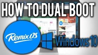download lagu How To Dual Boot Remix Os With Windows  gratis