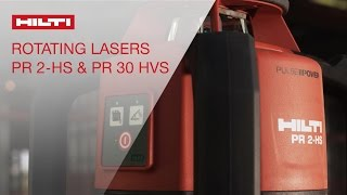 Hilti rotating lasers PR 2-HS and PR 30-HVS