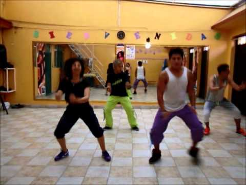 Zumba with shelly poker face