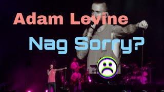 Adam Levine Apologizes?
