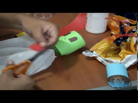 Títere de material reciclable