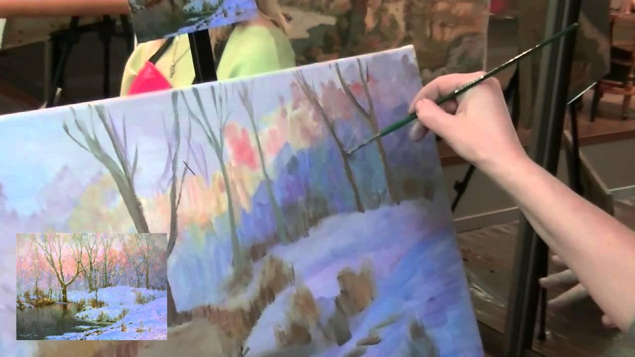 Мастер класс по живописи маслом на ютубе
