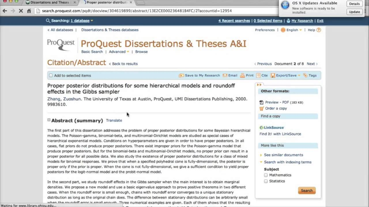 Dissertation Database Proquest