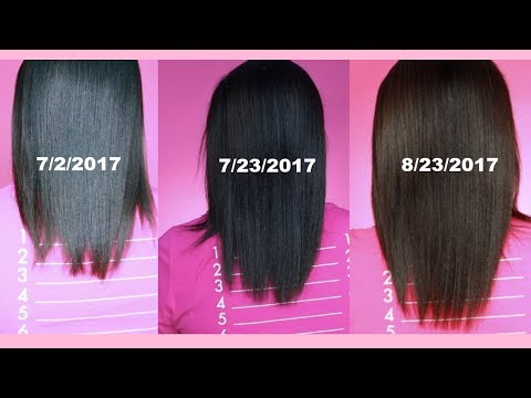 Hairfinity 2nd Month Lenght Check