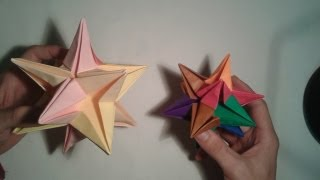 Origami - How To Make The Origami Omega Star (3d)