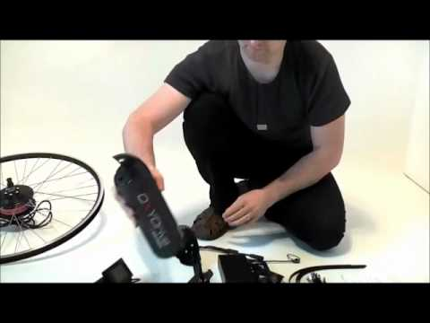 OXYDRIVE electric bike kit  what's inside the box.wmv