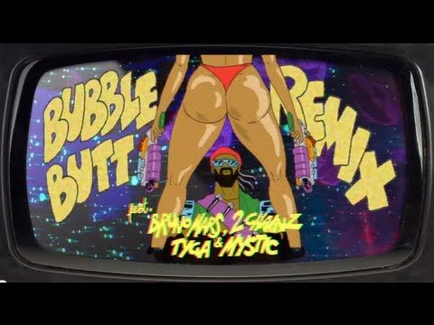 Bubble Butt Remix (feat. Bruno Mars, 2 Chainz, Tyga & Mystic) - Official Lyric Video Hq video