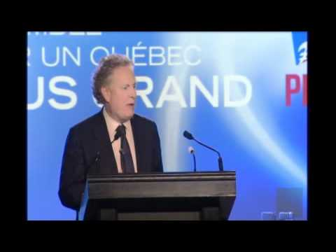 Allocution de Jean Charest, chef du PLQ et premier ministre
