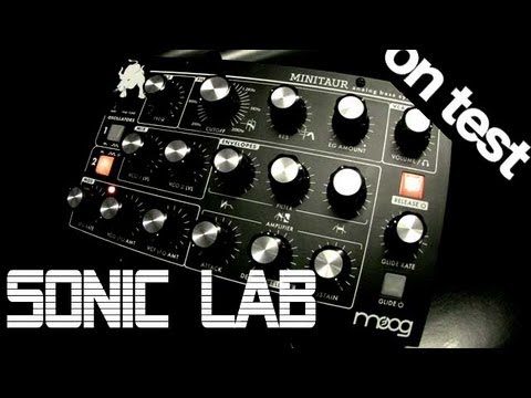 Sonic LAB Moog Minitaur Bass Synth Review Music Videos