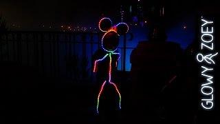 Little Girl In LED Halloween Costume