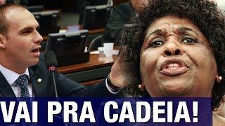 Eduardo Bolsonaro entra com representação contra Benedita da Silva e Requião por incitação à vio..