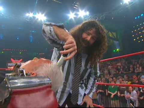 Mick Foley Shaves Eric Bischoff Bald