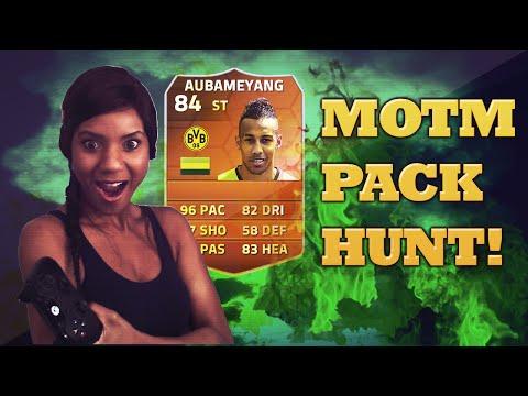 FIFA 14 FUT 14 Pack Opening Hunting MOTM Pierre-Emerick Aubameyang Live Reactions!