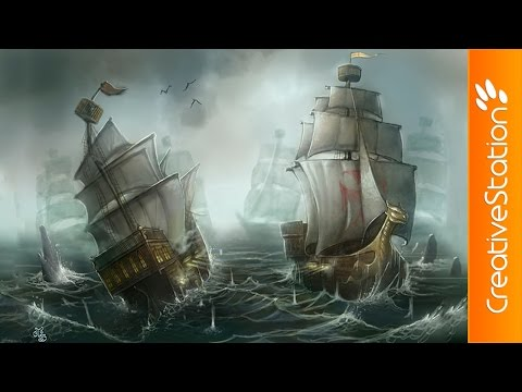 Battleship - Speed Painting (#Photoshop)   CreativeStation