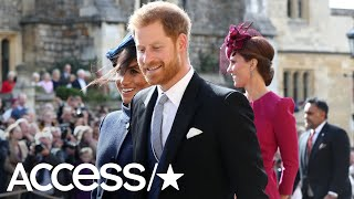 Prince Harry's Exes Chelsy Davy & Cressida Bonas Match Meghan Markle At Princess Eugenie's Wedding