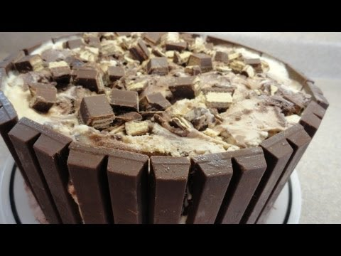 Kit Kat Candy Bar Ice Cream Cake - With Yoyomax12 video