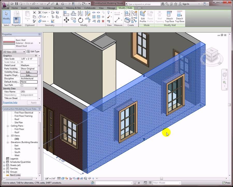 Revit Architecture 2012 Construction Modeling Youtube