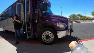 Woman hopes stupid Man gets thrown off Valley Metro Bus, Walmart Auto Care, Buckeye, AZ, GX017274