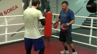 Константин Цзю в Академии бокса