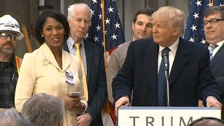 Donald Trump offers woman job at press conference