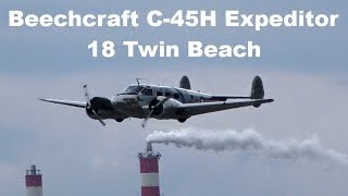 Beechcraft C-45H Expeditor / 18 Twin Beach, Airshow Prerov 2018