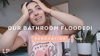 OUR BATHROOM FLOODED! RENOVATION VLOG | Lily Pebbles