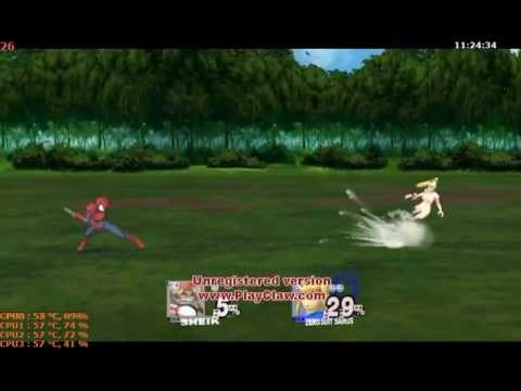 SSBB Epic Battles #108 Forest Samus [Censored] vs. Zelda [Jewel Bikini]/ Spiderman
