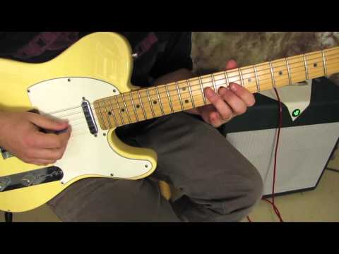Rock and Blues Lead Guitar Solo Lesson - Blues Licks to Play - Fender Telecaster