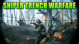 Battlefield 1 Sniper Trench Warfare | BF1 Squad Gameplay