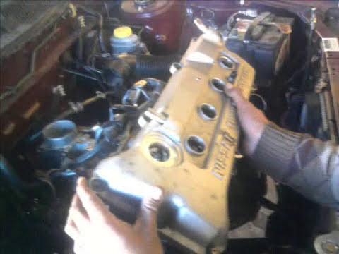 Motor nissan 1.6 lts. 16 V. cambio de junta de cabeza Head Gasket Replacement.