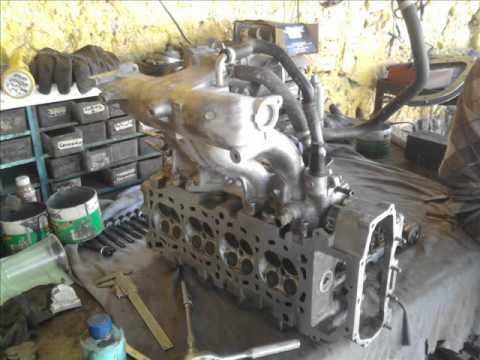 Motor    nissan 16 lts 16 V cambio de junta de cabeza Head