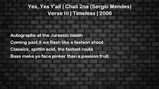 Yes Yes Y 39 All Chali 2na Sergio Mendes Verse 3