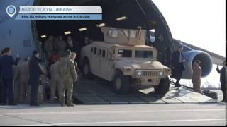 US Humvees in Ukraine Poroshenko welcomes first delivery to bolster Ukrainian defence