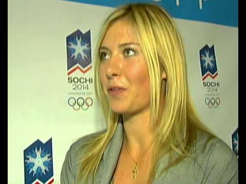 Maria Sharapova interview on coming from Sochi