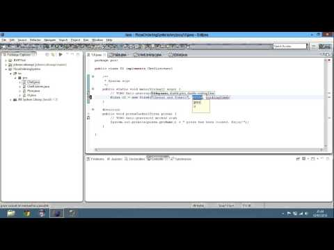 Java Tutorial - Pizza Ordering System Part 2 - Session 34
