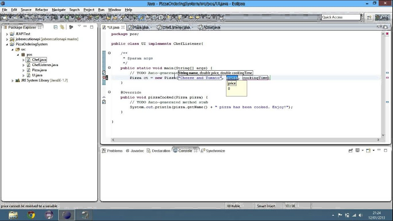 Java Tutorial Pizza Ordering System Part 2 Session 34