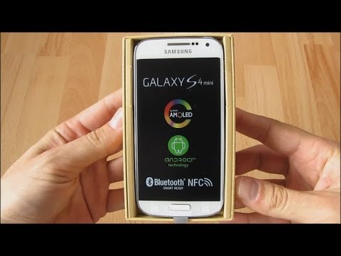 Unboxing Samsung Galaxy S4 mini LTE GT-I9195. audio: Romana