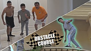 INSANE OBSTACLE COURSE IN THE NEW HOUSE!!