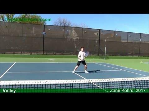 Zane Kohrs, Tennis Recruit, Class of 2017 | TheAthleteWatch.com