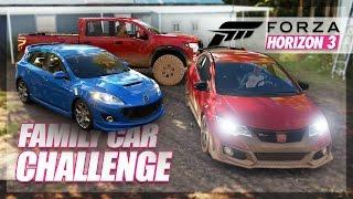 Forza Horizon 3 - Family Car Challenge! (Road Trip & Random Fun)